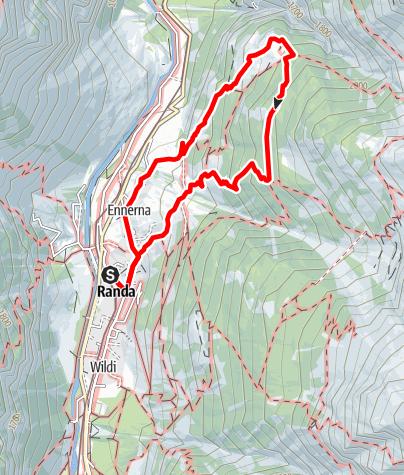 Map / Randa Forest Trail (Nr. 66)