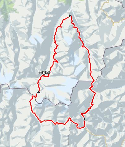 Karte / Tour Monte Rosa - Matterhorn