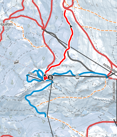 Carte / Sunnegga - Tufteren (Nr. 111)