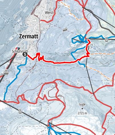 Map / Zermatt - Sunnegga