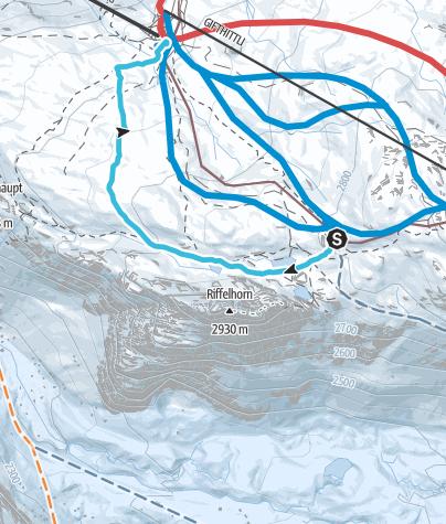 Map / Rotenboden - Riffelberg