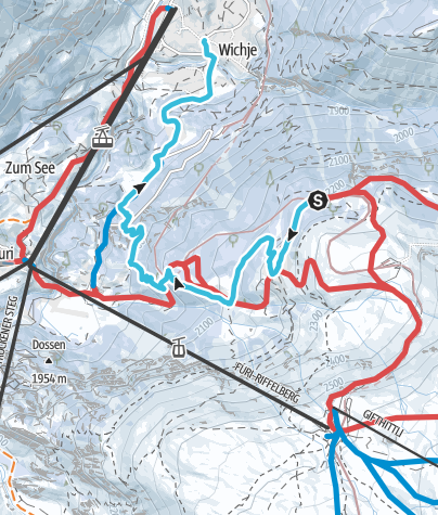 Map / Riffelalp - Winkelmatten
