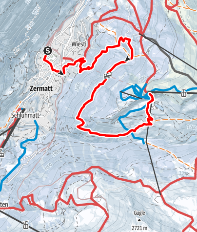 Carte / Zermatt - Sunnegga (via Tiefenmatten) (Nr. 115)