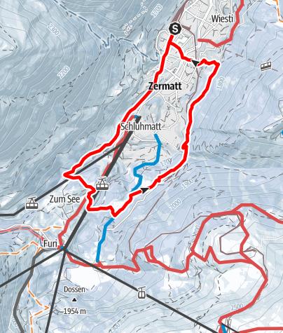 Carte / Circuit pédestre de Zermatt (Nr. 117)