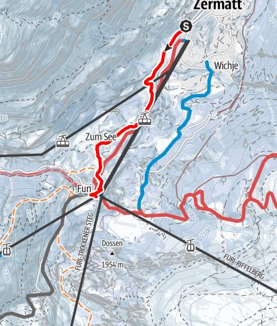 Carte / Zermatt - Furi (via Blatten)