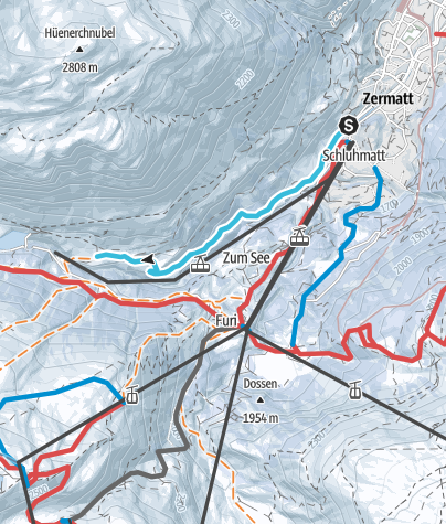 Map / Zermatt - Furi (via Zmutt)