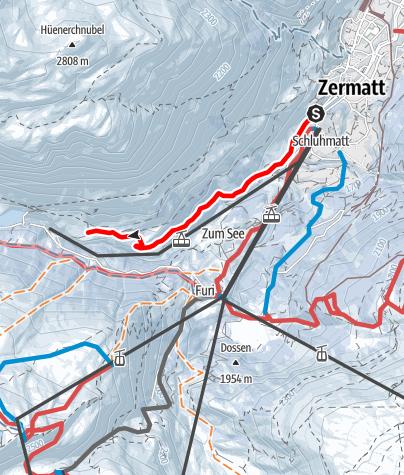 Carte / Zermatt-Furi (via Zmutt) (Nr. 121)
