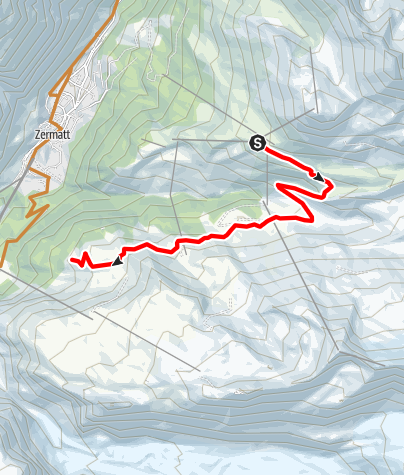 Map / Bike tour Blauherd - Riffelalp (Nr. 23)