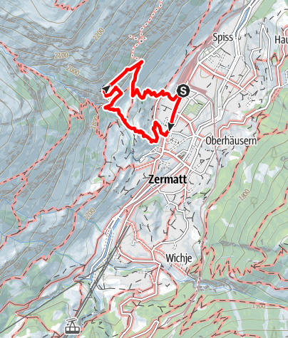 Carte / Via ferrata Schweifinen - voie A