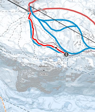 Karte / Schlittelbahn Rotenboden