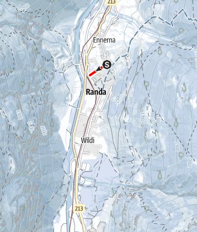 Karte / Schlittelweg Randa