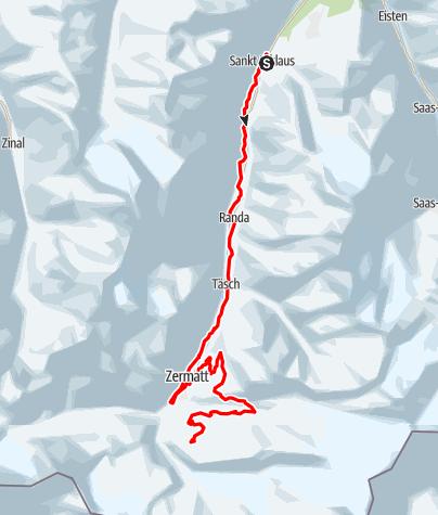 Carte / Gornergrat Zermatt Marathon