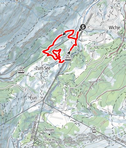 Karte / Vitaparcours Zermatt