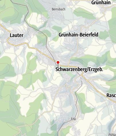 Karte / Eisenbahnmuseum Schwarzenberg