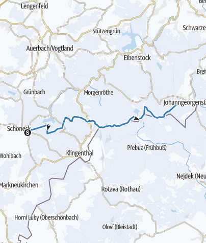 Karte / Kammloipe Erzgebirge/Vogtland