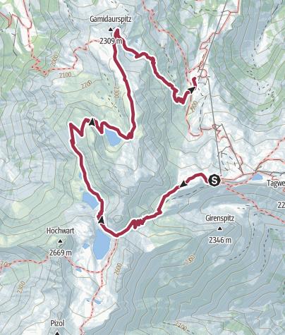 Karte / 5-Seen-Wanderung