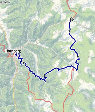 Karte / Über Oberreichenbach - Schwanenbach nach Hornberg