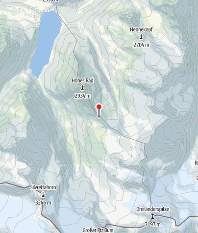 Karte / Radsattel (2.652 m)