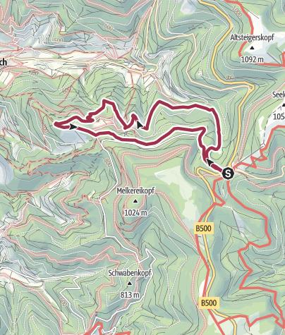 Karte / Genießerpfad - Bosensteiner Almpfad