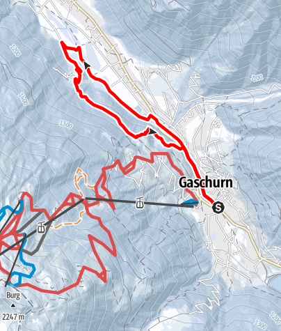 Karte / Runde Gortipohl (Start und Ende in Gaschurn)