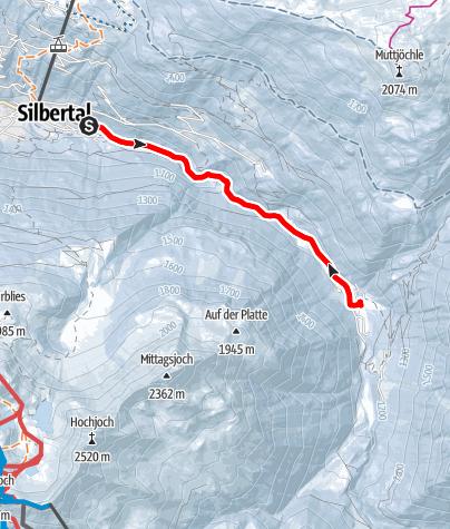 Karte / Von Silbertal zur Almhütte Fellimännle und retour