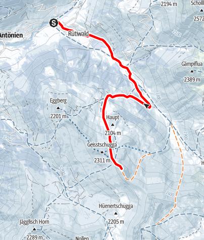 Karte / Hasenflüeli 2412m