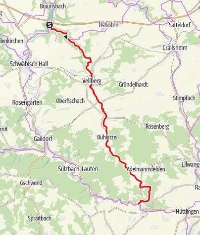 Karte / BühlerTour: Natur und Kultur im schönen Hohenloher Bühlertal