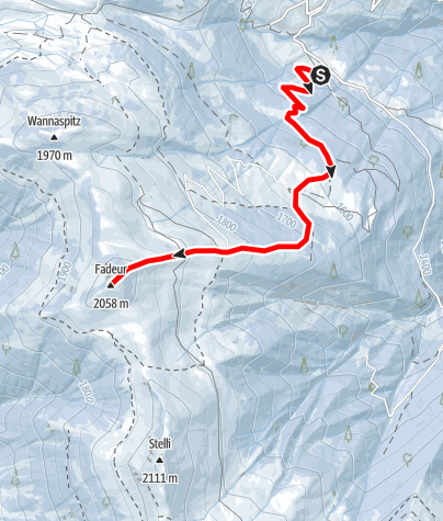 Karte / Fadeuer 2058m
