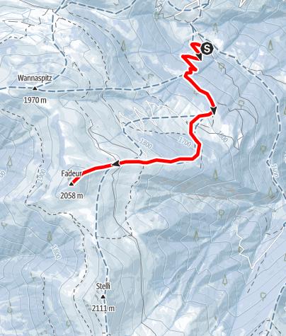 Map / Fadeuer 2058m