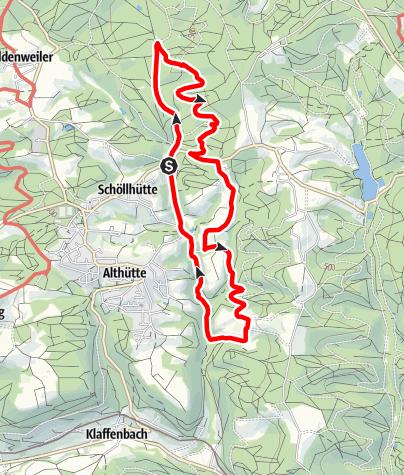 Karte / Idyllische Straße Tour B / Althütte - Brunnen- und Bächlestour