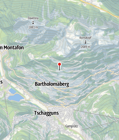 Karte / Allmein, Fritzensee (Bergknappenweg)