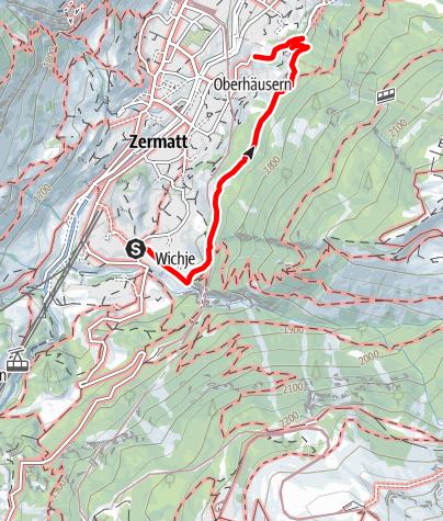 Carte / Sentier de l'AVS / unterer Höhenweg (Nr. 4a)