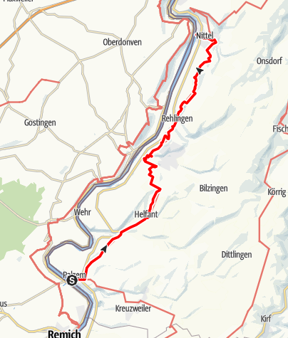 Karte / Moselsteig Etappe 02: Palzem – Nittel