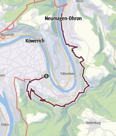 Karte / Moselsteig Etappe 08: Leiwen – Neumagen-Dhron