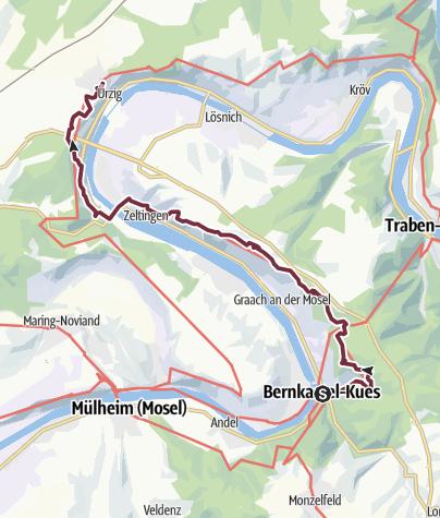 Map / Moselsteig Trail Stage 11: Bernkastel-Kues – Ürzig