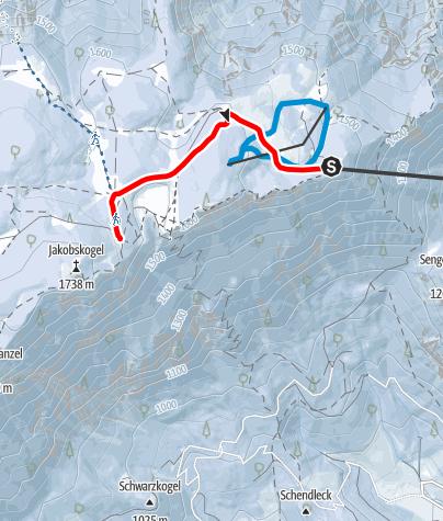 Mapa / Z horskej chaty Raxalm až k chate Ottohaus