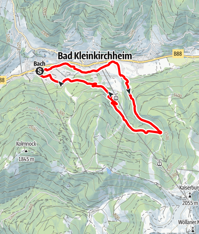 Map / 8 Berglauf Mittelstation