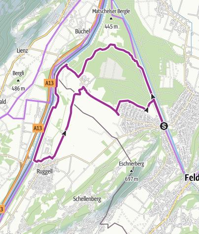 Karte / Natur Pur! Ein Besuch der Feldkircher Naturschutzgebiete