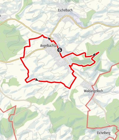 Karte / A1 - Panoramaweg Angelbachtal