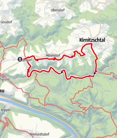 Map / Panoramaweg trail and Flößersteig trail