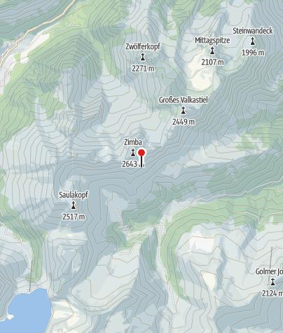 Karte / Einstieg Klettersteig Neyerscharte
