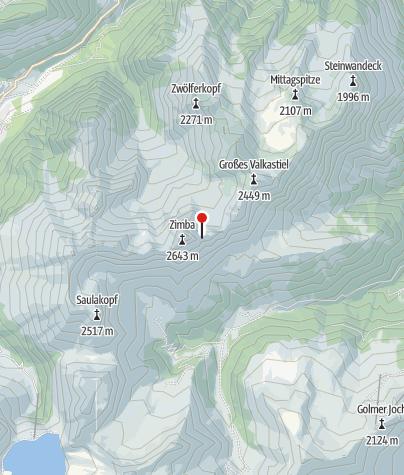 Karte / Ausstieg Klettersteig Neyerscharte