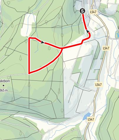 Karte / Lebensraumroute - Der Eichenwald im Solling kleine Runde