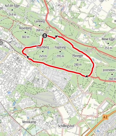 Karte / Naturparktrail Bielefeld 4: Verborgene Zeitzeichen