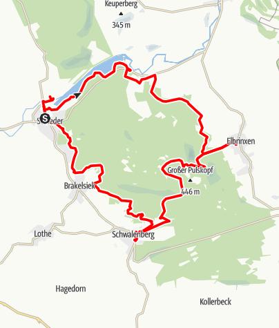 Karte / Naturparktrail Schwalenberger Wald - Gesamtrundweg
