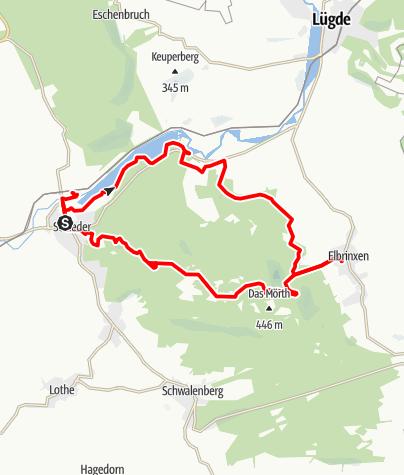Kaart / Naturparktrail Schwalenberger Wald - Nordroute