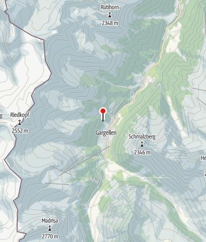 Karte / Einstieg Klettersteig Rongg Wasserfall