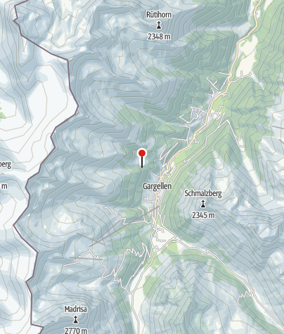 Karte / Ausstieg Klettersteig Rongg Wasserfall