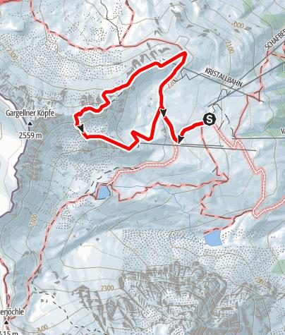 Karte / VAUDE Klettersteig Gargellner Köpfe