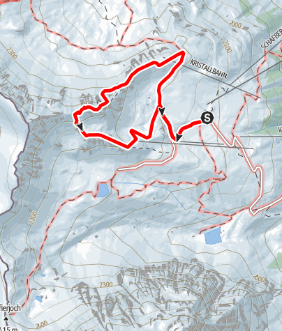 Map / via ferrata Gargellner Köpfe